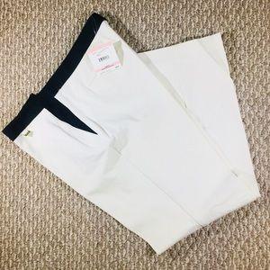 BNWT Anne Klein Cream & Black Dress Pants